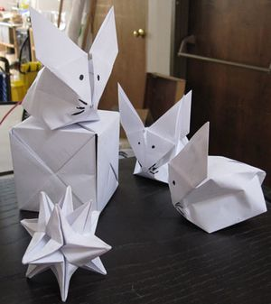 How to Make an Origami Inflatable Bunny Rabbit! - Instructables | 337x300