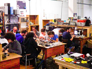 Happy hardware hackers at Circuit Hacking Monday