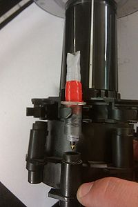 plotter carousel pencap retracted